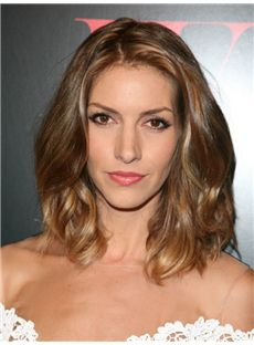Keltie Colleen Hairstyle Medium Wavy Full Lace Remy Hair Wigs