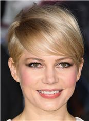 Style Halle Berry Short Straight Full Lace Human Hair Wigs