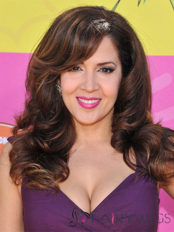 Classic Sarah Jeffery Medium Wavy Full Lace Human Hair Wigs