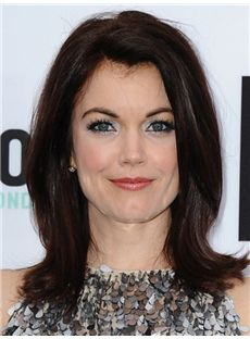 Favorable Heather McDonald Medium Wavy Full Lace Human Hair Wigs