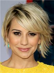 Ari Graynor Hairstyle Short Wavy Full Lace Human Wigs