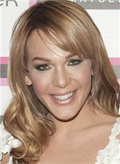 Popular Cheryl Burke Hairstyle Medium Wavy Full Lace Human Wigs