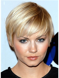 Wholesale Short Straight Capless Human Hair Wigs