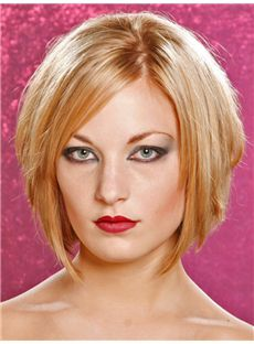 Comely Short Straight Full Lace Human Hair Wigs