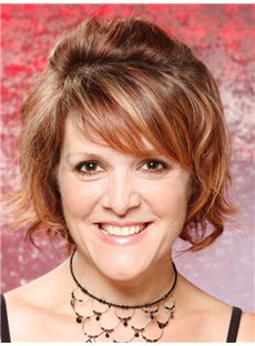Discounted Sigourney Weaver Short Wavy Full Lace Real Human Hair Wigs