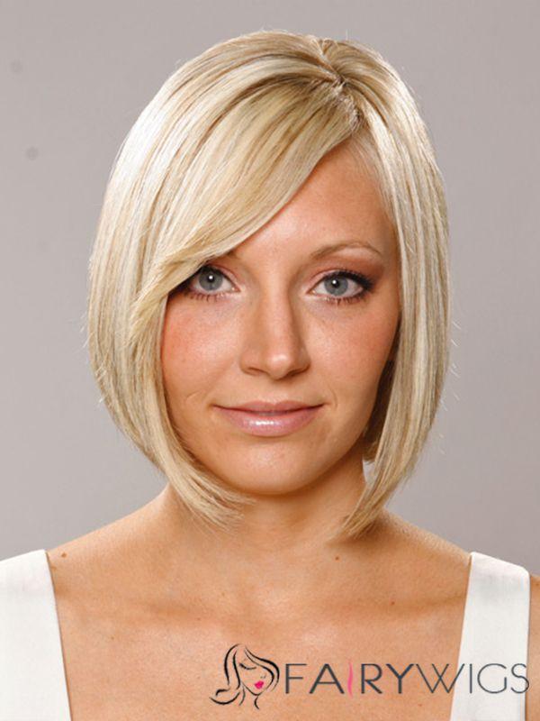 Exclusive Short Straight Capless Human Hair Wigs Fairywigs