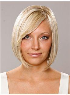 Exclusive Short Straight Capless Human Hair Wigs