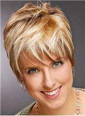 Good Short Straight Capless Real Human Hair Wigs