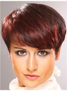 Impressive Short Straight Full Lace 100% Indian Remy Wigs