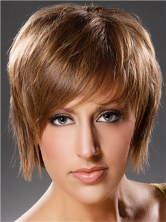 Incredible Short Straight Capless 100% Indian Remy Mens Wigs