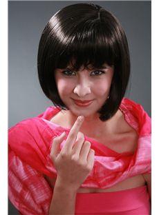 Lovely 10 Inch Ebony Straight Kanekaron Synthetic Wigs