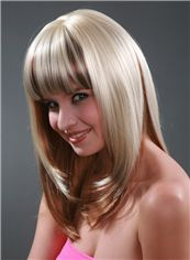 Capless Terrific 16 Inch Straight Kanekaron Synthetic Wigs