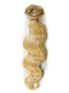 12'-30' Wavy Human Hair Clip In Full Head Set