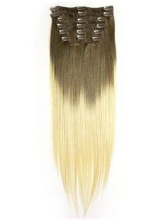 12'-30' Dip Dye Clip-in Straight Human Hair