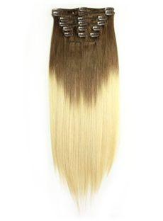 12'-30' Dip Dye Clip-in Straight 100% Human Hair