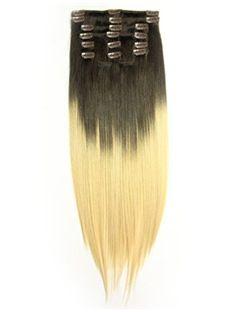 12'-30' High Quality Dip Dye Clip-in Straight Hair