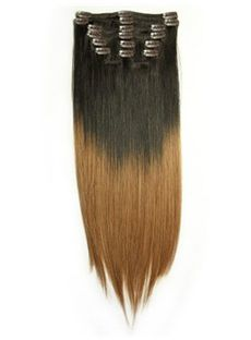 12'-30' Dip Dye Clip-in Straight Hair