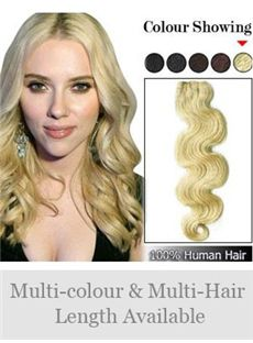 12-30 Tangle Free Wavy Full Head Human Hair Extension