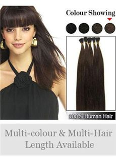 Newest 12'-30' 100% Stick Tip Human Hair Extensions