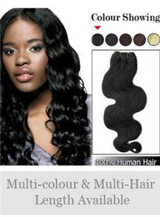 12'-30' Wavy Indian Remy Hair Weft Extensions