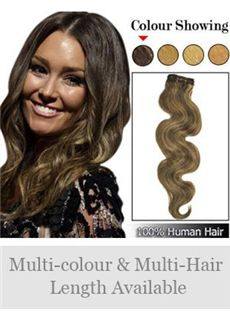 12'-30' High Quality Wavy Indian Remy Hair Weft Extensions