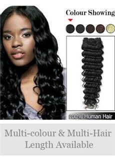 12'-30' Deep Wave Indian Remy Weft Extensions