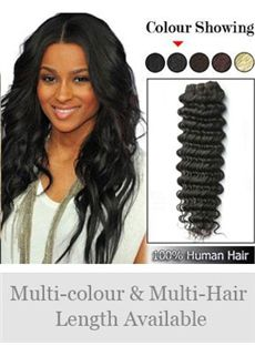 New 12'-30' Deep Wave Indian Remy Weft Extensions