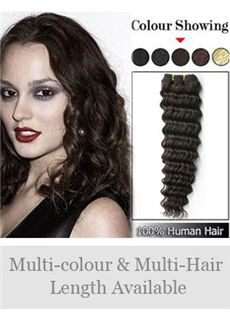 Best 12'-30' Selling Deep Wave Indian Remy Weft Extensions