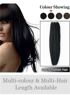 12'-30' Remy Human Hair Straight Full Head Extensions