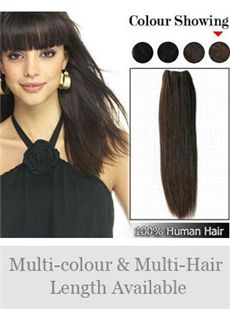 Silky Soft 12'-30' Remy Human Hair Straight Full Head Extensions