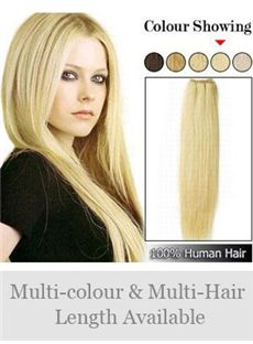 12'-30' Tangle Free Remy Human Hair Straight Full Head Extensions