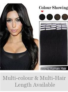 12'-30' 20 Pcs Remy Hair Tape in Extensions