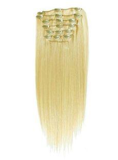Newest 10pcs 12'-30' Straight Human Hair Clip In Full Head Set