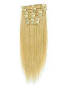 12'-30' Straight Human Hair Clip In Full Head Set