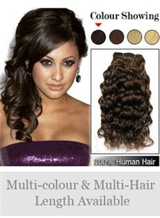 Best Selling 12'-30' Indian Remy Hair Curly Weft Extensions