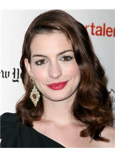 16 Inch Anne Hathaway Wavy Full Lace 100% Human Wigs