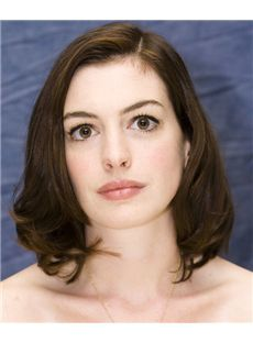 14 Inch Wavy Anne Hathaway Full Lace 100% Human Wigs