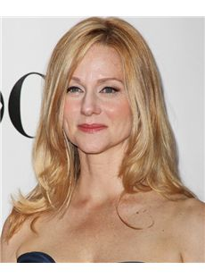 16 Inch Wavy Laura Linney Lace Front Human Wigs