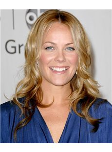 18 Inch Wavy Blonde Andrea Anders Lace Front Human Wigs