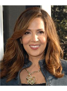16 Inch Wavy Blonde Maria Canals Berrera Lace Front Human Wigs