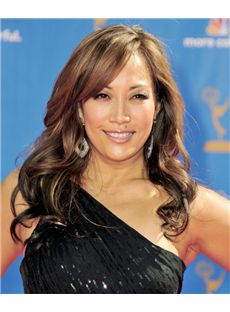 18 Inch Wavy Carrie Ann Inaba Lace Front Human Wigs