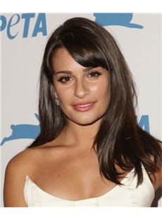 18 Inch Straight Lea Michele Lace Front Human Wigs