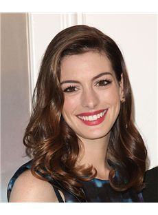 16 Inch Wavy Anne Hathaway Full Lace 100% Human Wigs