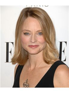14 Inch Wavy Jodie Foster Lace Front Human Wigs