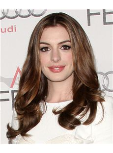 18 Inch Wavy Anne Hathaway Full Lace 100% Human Wigs