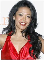 20 Inch Wavy Black J. Elaine Marcos Full Lace 100% Human Wigs