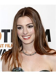18 Inch Straight Anne Hathaway Full Lace 100% Human Wigs