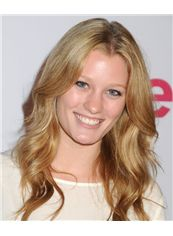 20 Inch Wavy Blonde Ashley Hinshaw Full Lace 100% Human Wigs