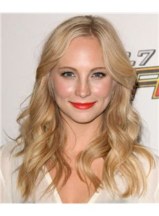 18 Inch Wavy Candice Accola Lace Front Human Wigs