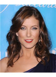 16 Inch Wavy Sepia Kate Walsh Full Lace 100% Human Wigs